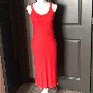 NWOT!! Michael Kors ribbed coral midi dress Small